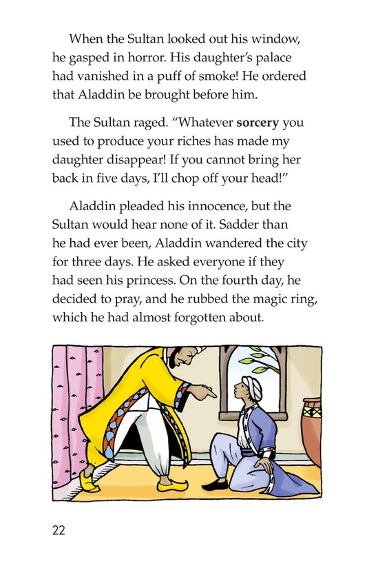 Book Preview For Aladdin and the Wonderful Lamp Page 22