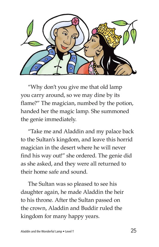 Book Preview For Aladdin and the Wonderful Lamp Page 25