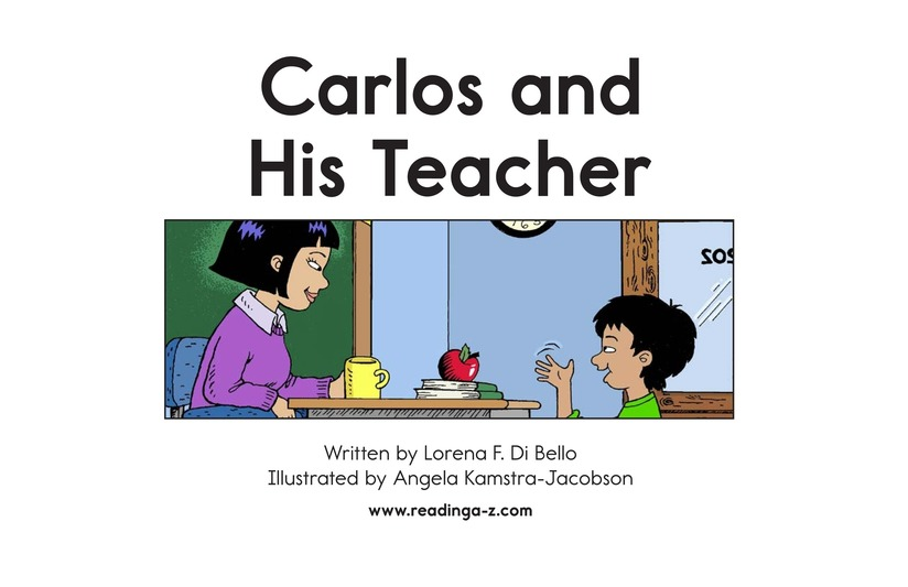 Book Preview For Carlos and His Teacher Page 2
