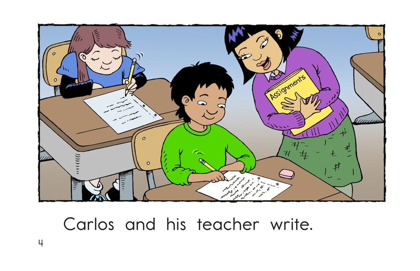 Book Preview For Carlos and His Teacher Page 4