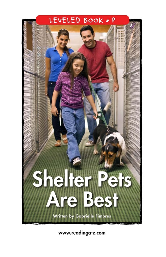 Book Preview For Shelter Pets Are Best Page 1