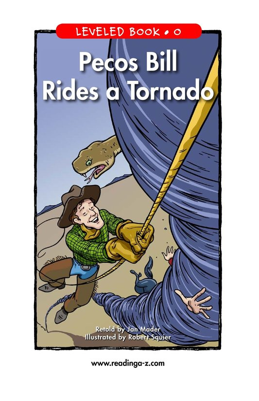 Book Preview For Pecos Bill Rides a Tornado Page 1