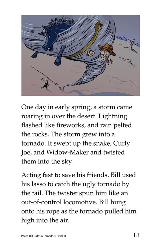 Book Preview For Pecos Bill Rides a Tornado Page 13