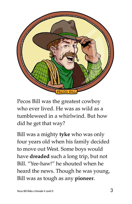 Book Preview For Pecos Bill Rides a Tornado Page 3