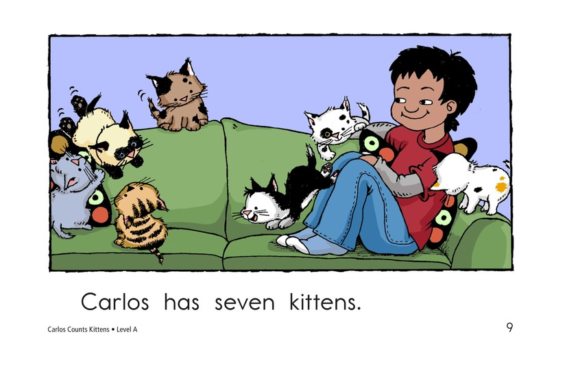 Book Preview For Carlos Counts Kittens Page 9