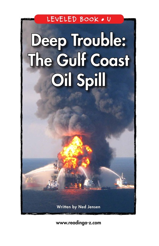 Book Preview For Deep Trouble: The Gulf Coast Oil Spill Page 1