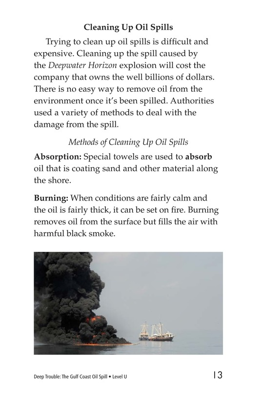 Book Preview For Deep Trouble: The Gulf Coast Oil Spill Page 13