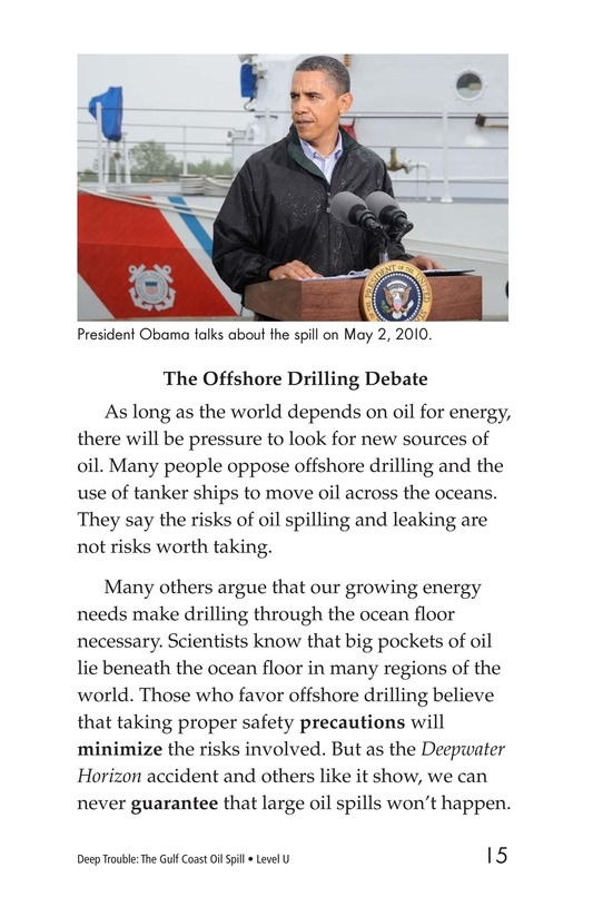 Book Preview For Deep Trouble: The Gulf Coast Oil Spill Page 15