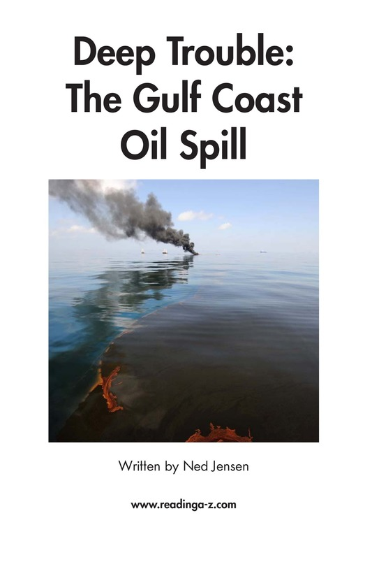 Book Preview For Deep Trouble: The Gulf Coast Oil Spill Page 2