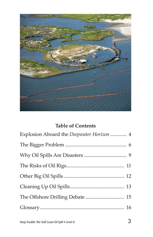Book Preview For Deep Trouble: The Gulf Coast Oil Spill Page 3