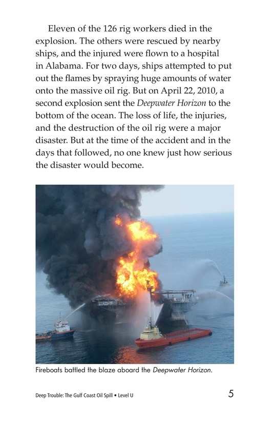 Book Preview For Deep Trouble: The Gulf Coast Oil Spill Page 5
