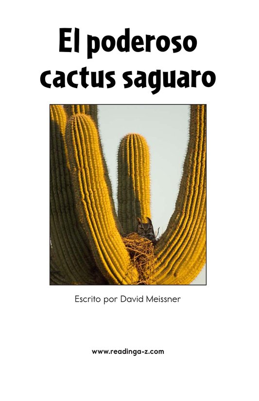 Book Preview For The Mighty Saguaro Cactus Page 2