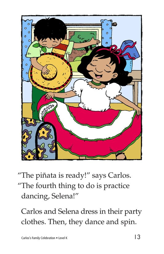 Book Preview For Carlos's Family Celebration Page 13