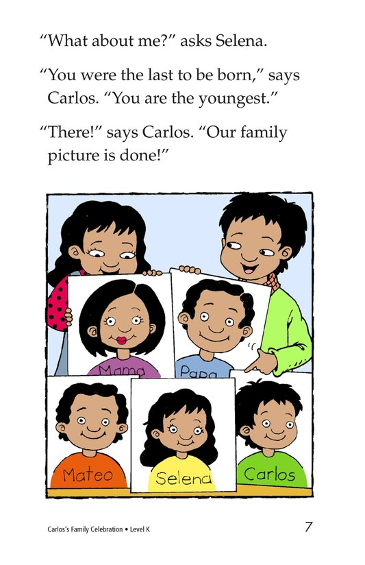 Book Preview For Carlos's Family Celebration Page 7