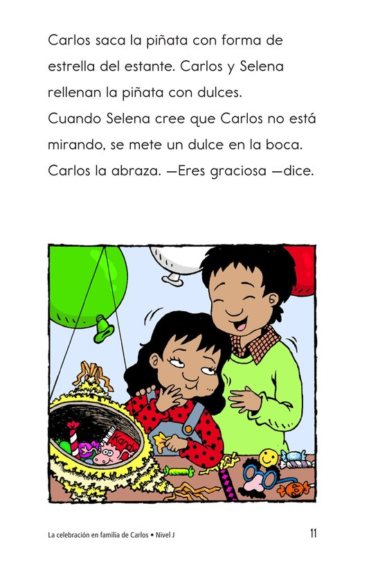 Book Preview For Carlos's Family Celebration Page 11