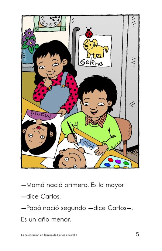 Book Preview For Carlos's Family Celebration Page 5