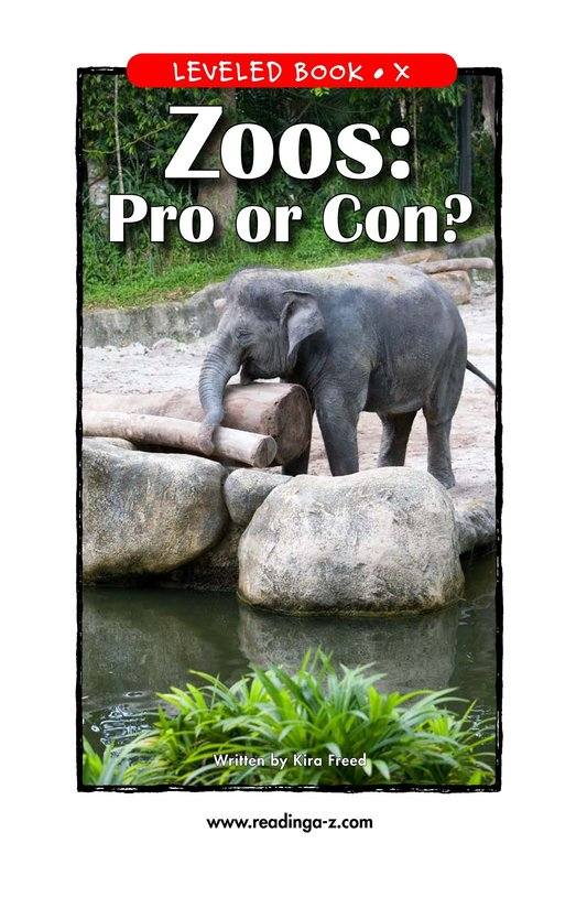 Book Preview For Zoos: Pro or Con? Page 1