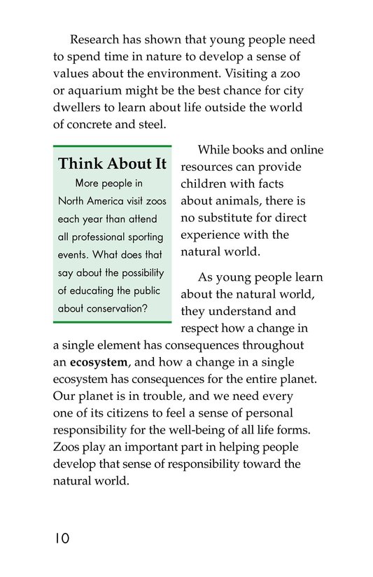 Book Preview For Zoos: Pro or Con? Page 10