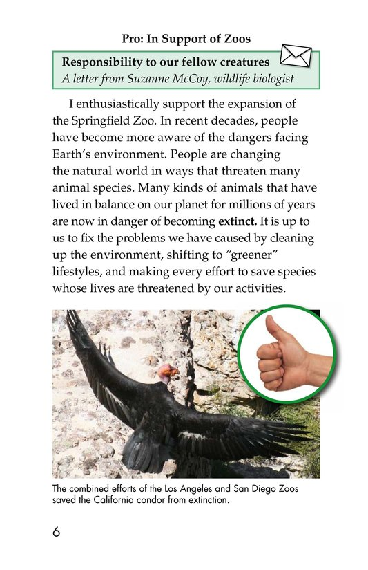 Book Preview For Zoos: Pro or Con? Page 6
