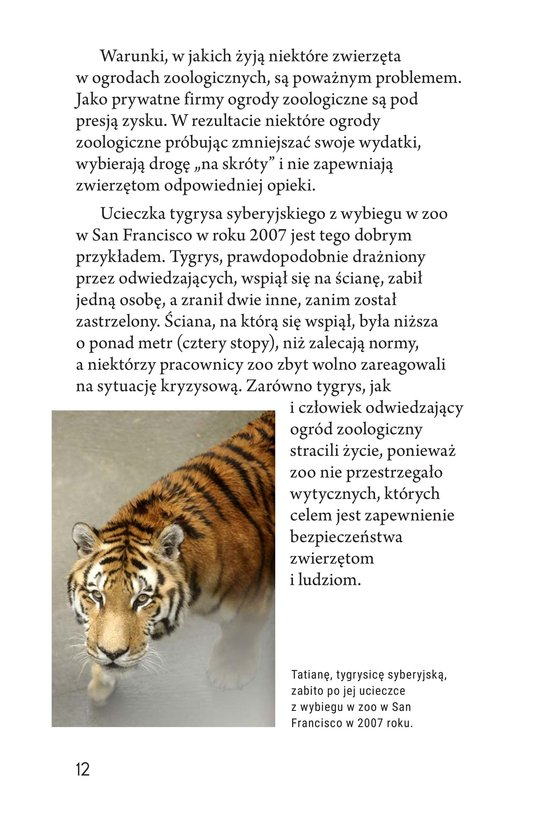 Book Preview For Zoos: Pro or Con? Page 12