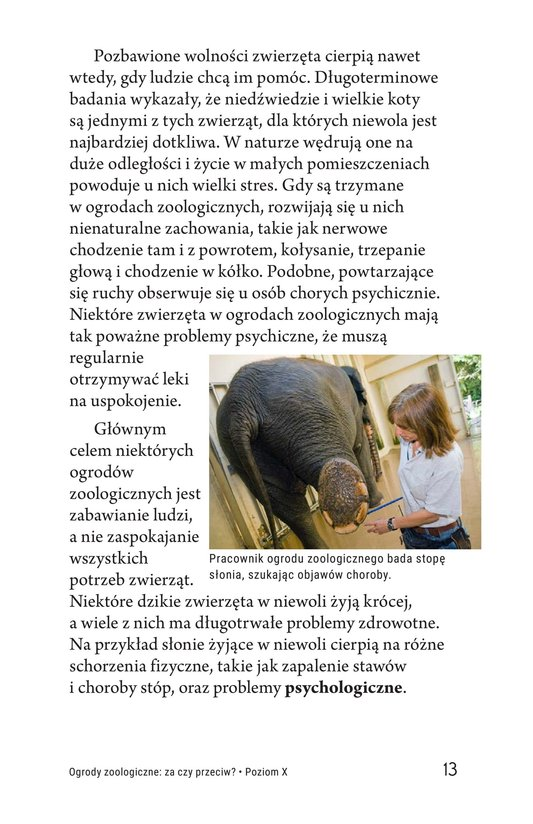 Book Preview For Zoos: Pro or Con? Page 13