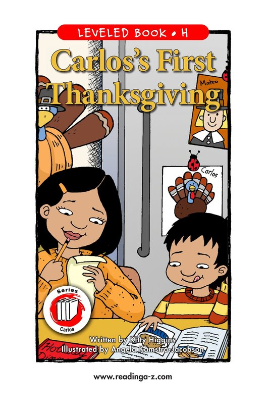 Book Preview For Carlos's First Thanksgiving Page 1