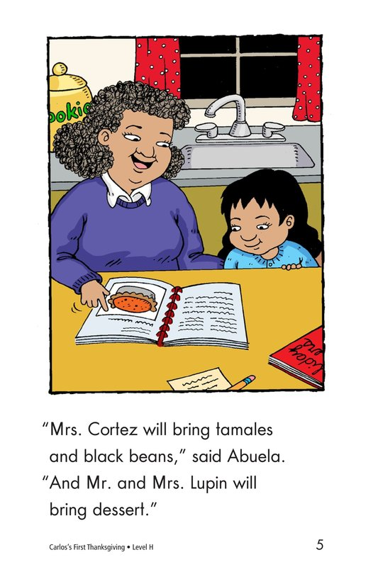 Book Preview For Carlos's First Thanksgiving Page 5