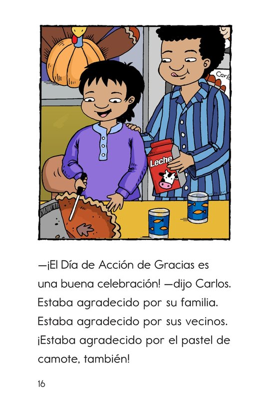 Book Preview For Carlos's First Thanksgiving Page 16