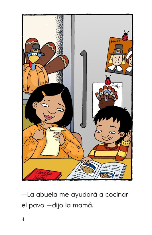 Book Preview For Carlos's First Thanksgiving Page 4