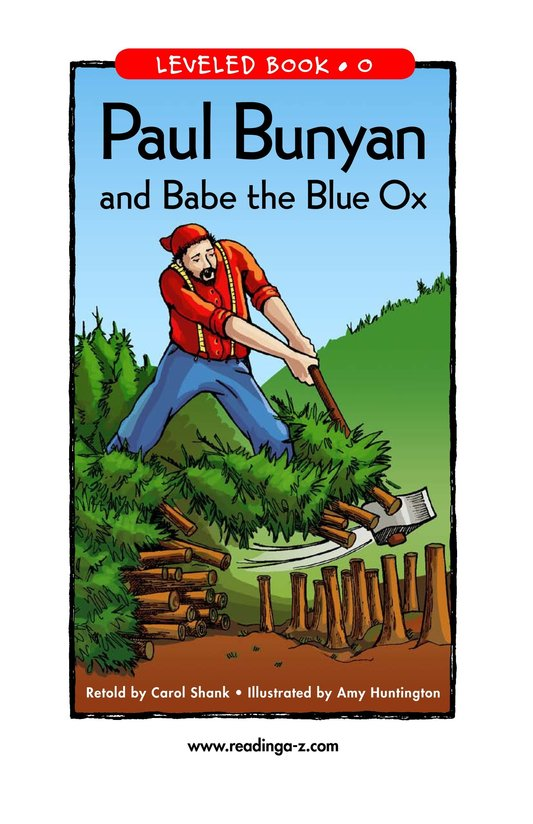 Book Preview For Paul Bunyan and Babe the Blue Ox Page 1