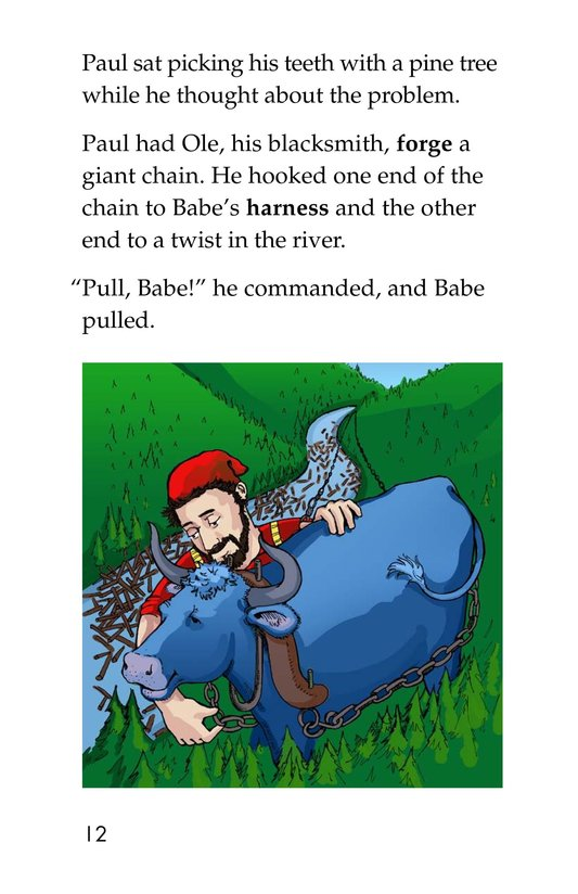 Book Preview For Paul Bunyan and Babe the Blue Ox Page 12