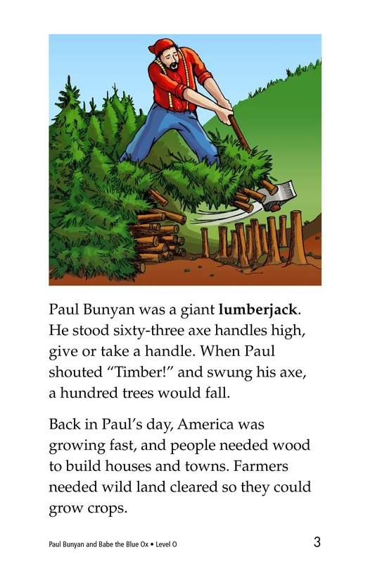 Book Preview For Paul Bunyan and Babe the Blue Ox Page 3