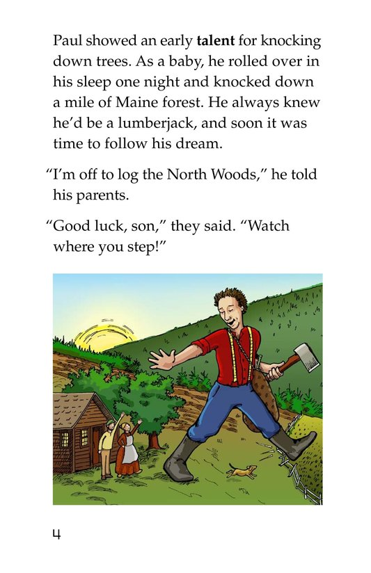 Book Preview For Paul Bunyan and Babe the Blue Ox Page 4