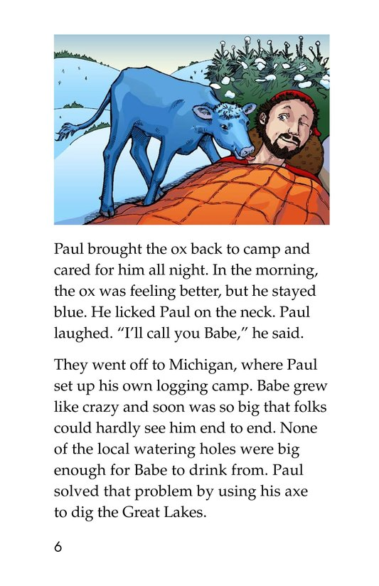 Book Preview For Paul Bunyan and Babe the Blue Ox Page 6