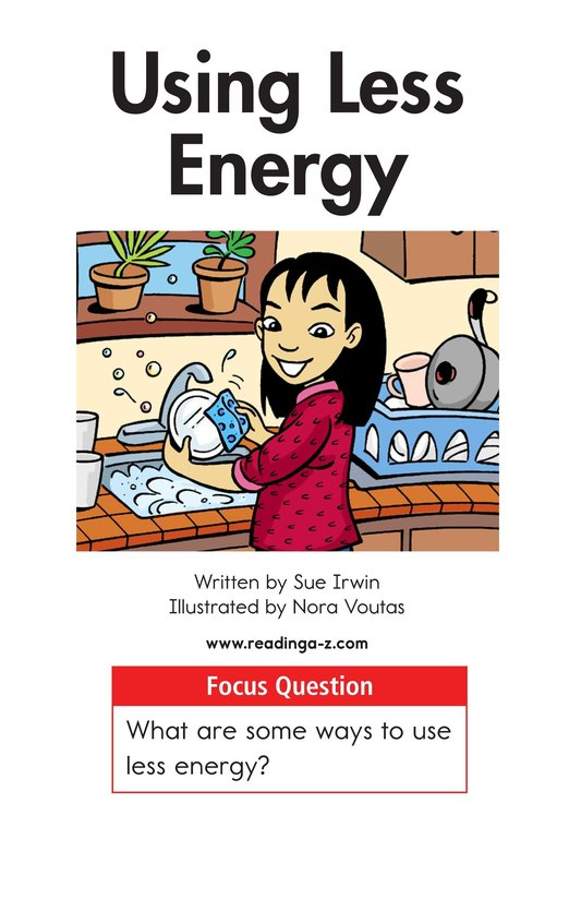 Book Preview For Using Less Energy Page 1