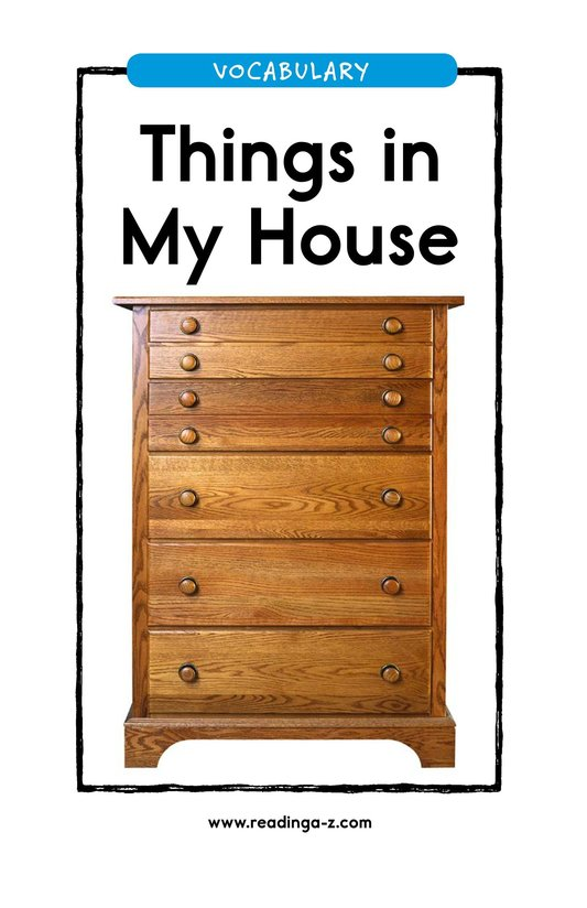 Book Preview For Things in My House Page 1