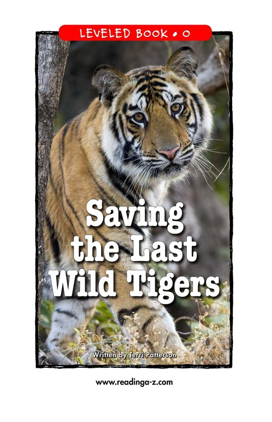 Book Preview For Saving the Last Wild Tigers Page 1