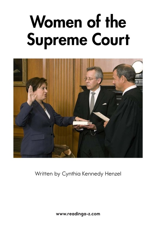 Book Preview For Women of the Supreme Court Page 2