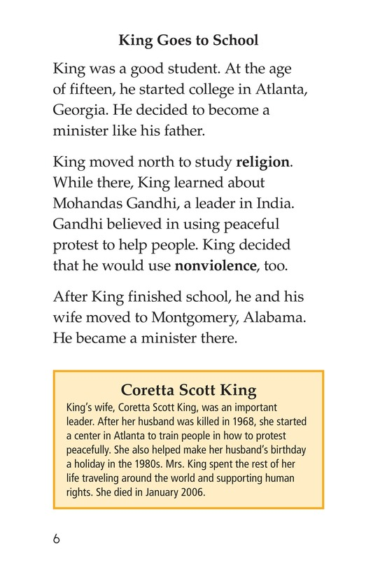 Book Preview For Martin Luther King, Jr. Page 6