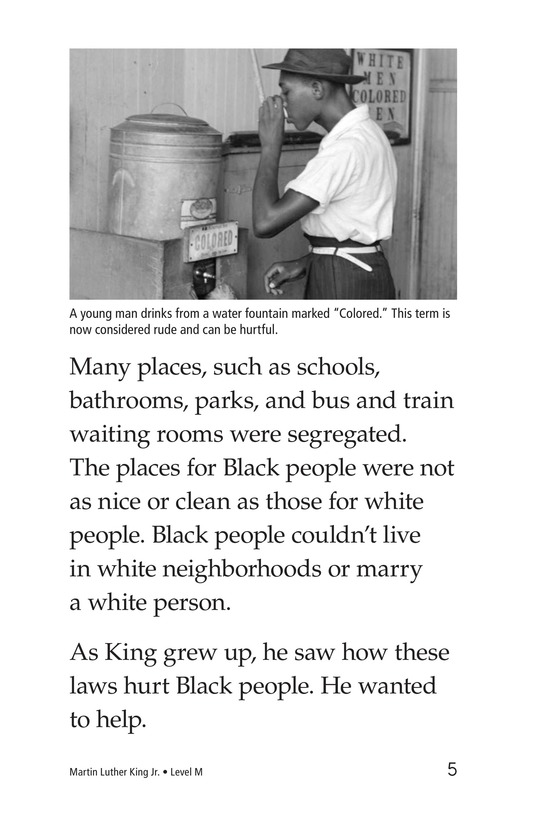 Book Preview For Martin Luther King, Jr. Page 5