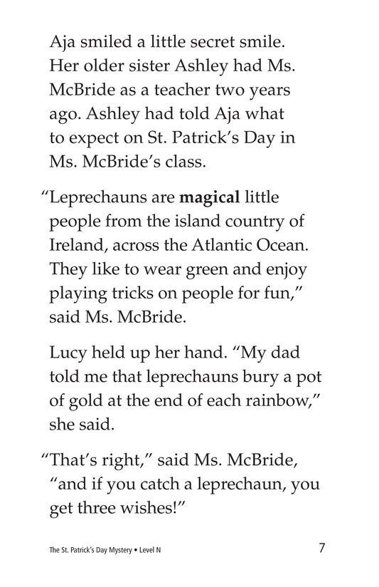 Book Preview For The St. Patrick's Day Mystery Page 7