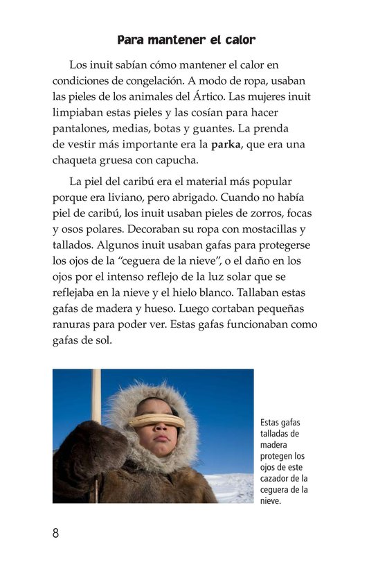 Book Preview For The Inuit: Northern Living Page 8