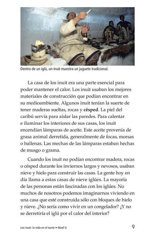 Book Preview For The Inuit: Northern Living Page 9