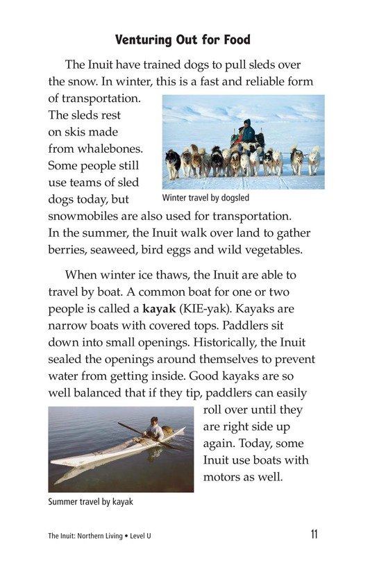 Book Preview For The Inuit: Northern Living Page 11