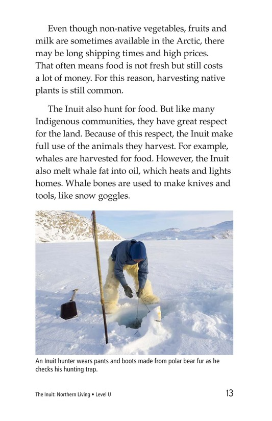 Book Preview For The Inuit: Northern Living Page 13