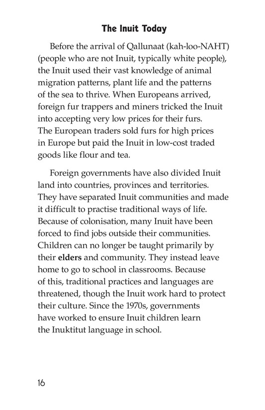 Book Preview For The Inuit: Northern Living Page 16