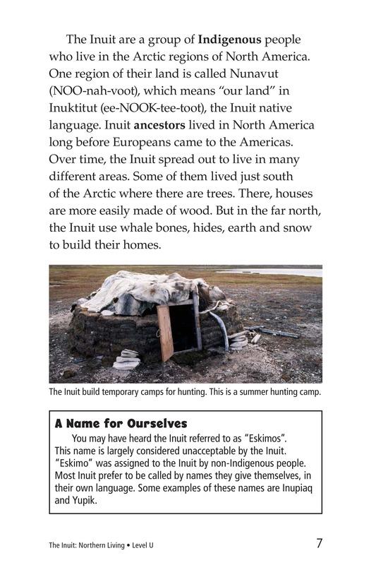 Book Preview For The Inuit: Northern Living Page 7