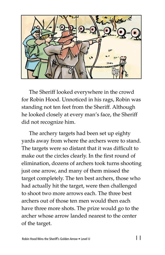 Book Preview For Robin Hood Wins the Sheriff's Golden Arrow Page 11
