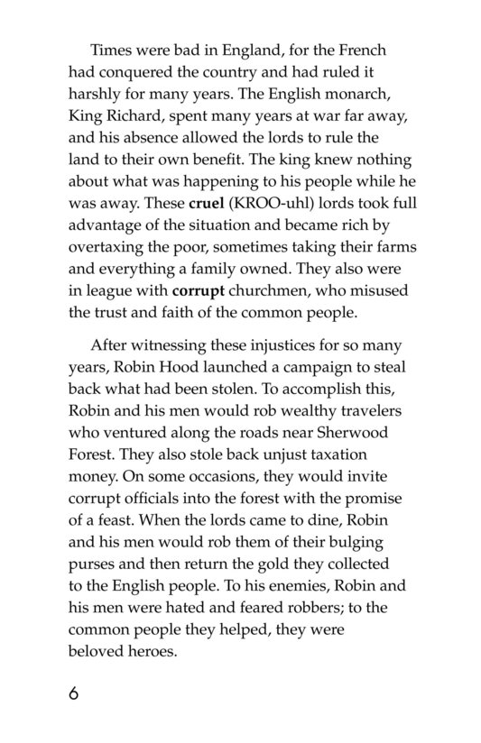 Book Preview For Robin Hood Wins the Sheriff's Golden Arrow Page 6
