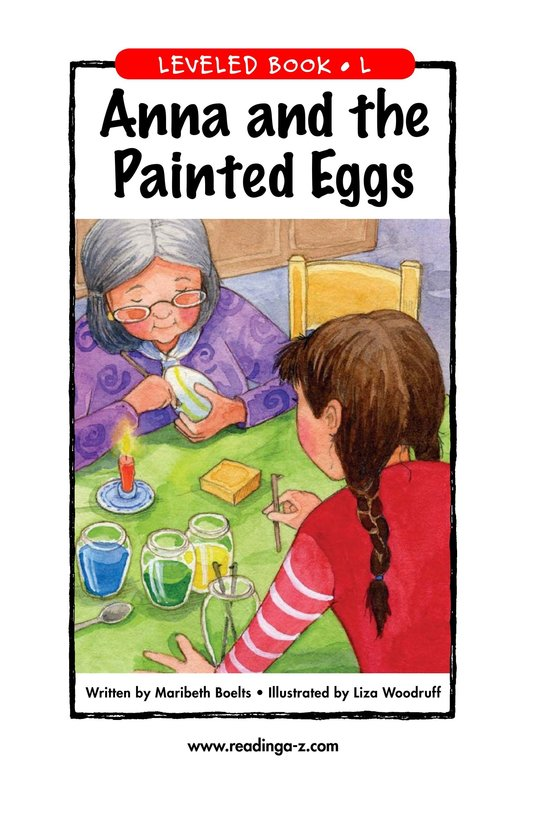 Book Preview For Anna and the Painted Eggs Page 1